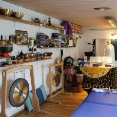 Klangschalen-Verkaufsraum